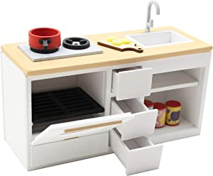 1:18 Cool Beans Boutique Miniature Dollhouse Furniture DIY Kit – Kitchen Sink, Stove & Oven Set (Assembly Required) DH-HD18-1181033Sink&Oven
