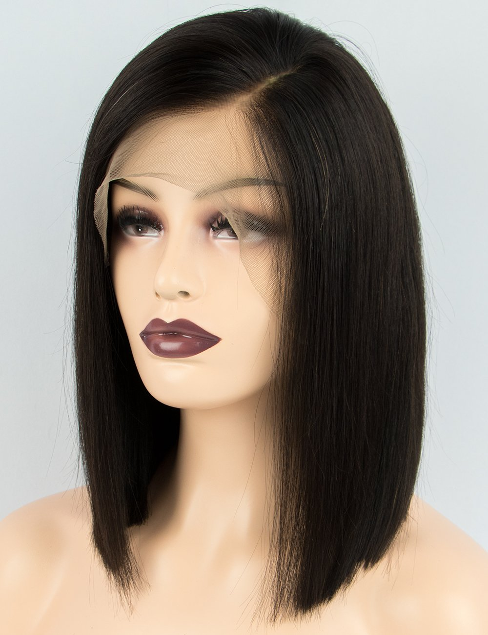 Amazon.com: Persephone Pre Plucked 360 Lace Frontal Wig Brazilian Silky Straight Bob Wig Human Hair for Black Women Natural Color 150% Density 10 inch: ...
