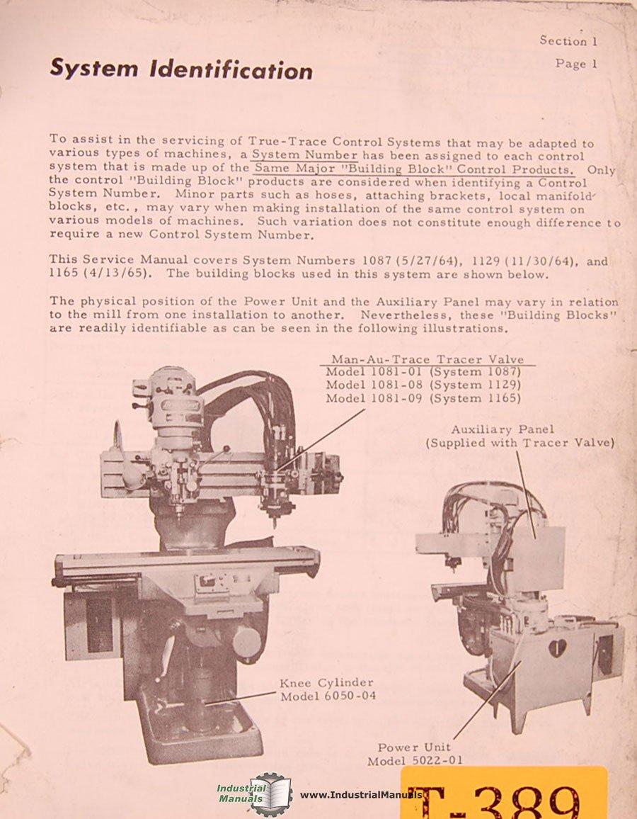 True Trace 1081 plus, Lathe Tracer, Installation Operations Electrical  Schematics Manual: True Trace: Amazon.com: Books
