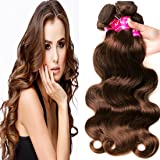 Aphro Hair Malaysian Unprocessed Virgin Hair 3/4 Bundles 8-28inch Human Remy Hair Extensions Body Wave #4 light brown