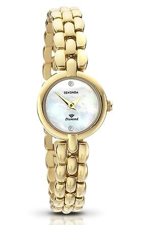 Sekonda La s Gold Plated Diamond Bracelet Watch 4127 47 Amazon