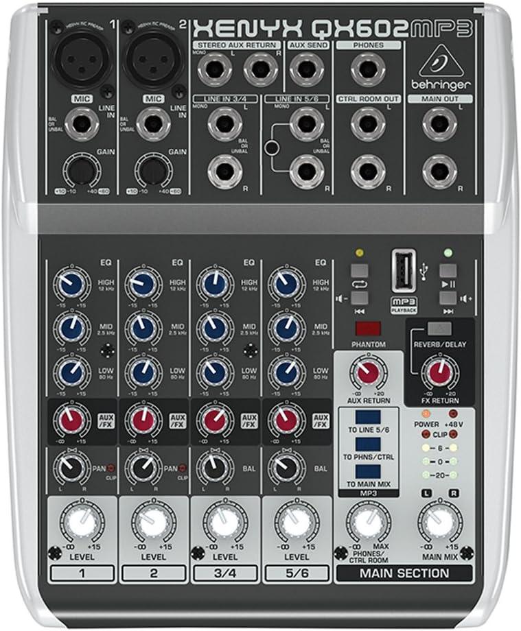 Behringer QX602MP3 - Mesa de mezclas, MP3 Player: Amazon.es ...