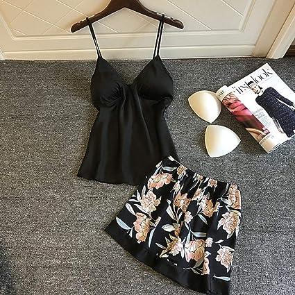ZJHZN Pijamas de Verano Sexy para Mujer con Almohadillas para ...