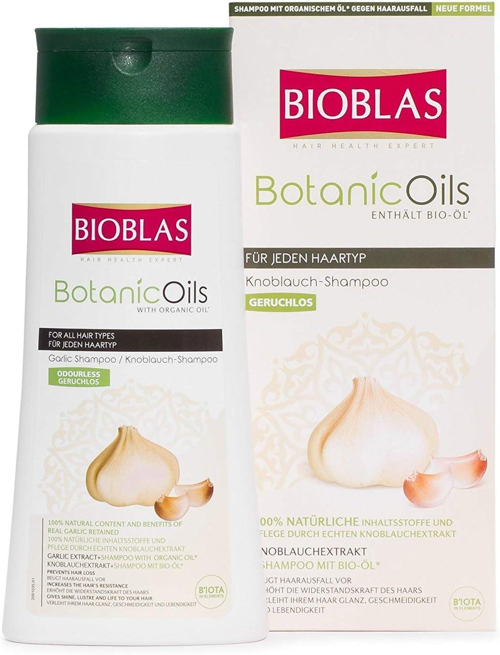 2x Champú de ajo de Bioblas Botanic Oils, inodoro, y ...