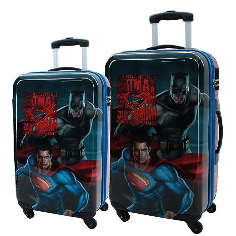 Warner Superman-Batman Juego de Maletas, 86 litros, Color Gris