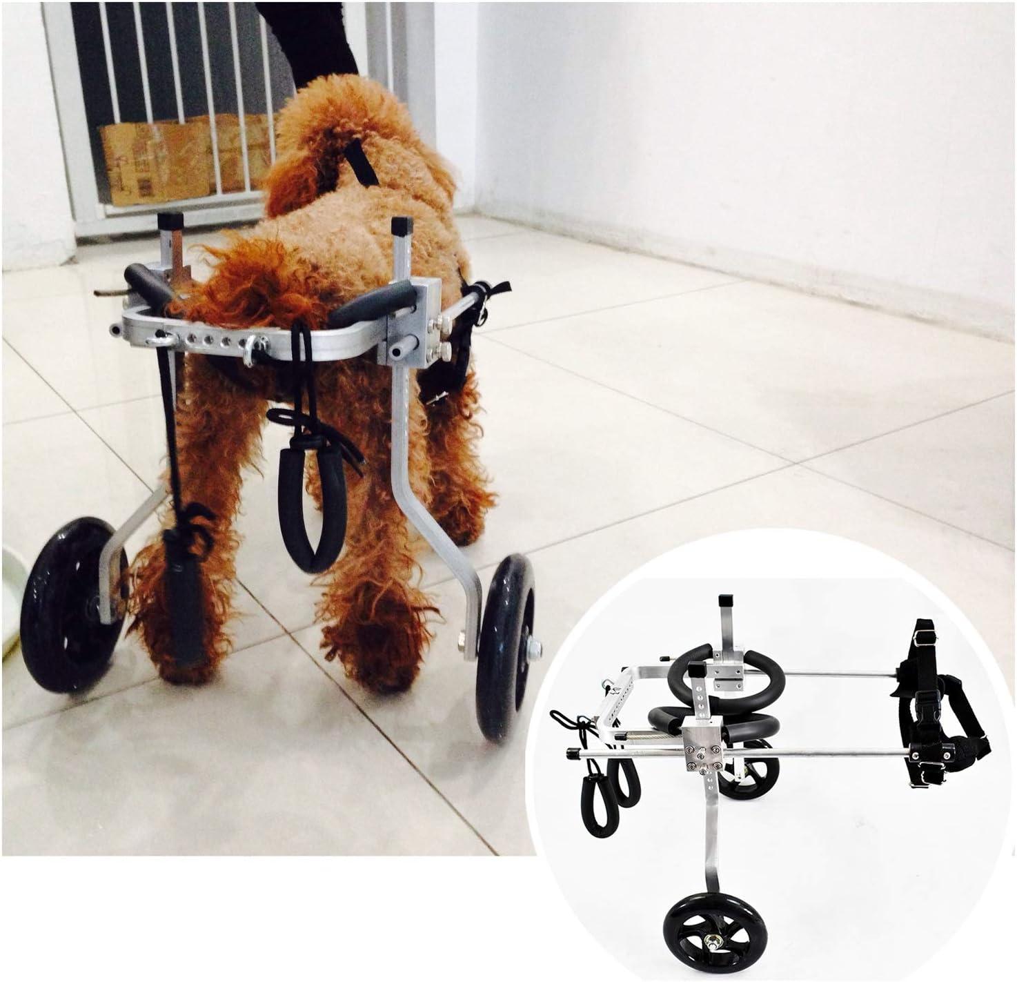 1-60kg Silla De Ruedas para Pierna Trasera Carro De Animales con Discapacidad Física Scooter para Mascotas Ruedas para Pierna Trasera Perros Rehabilitación 2 Ruedas Ajustable (8 Tamaños) (Size : XL)