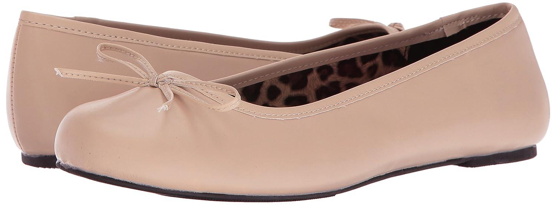 Pleaser Women's Anna01/Crpu Ballet Flat B06XH2MPSV 12 B(M) US|Cream Str Faux Leather