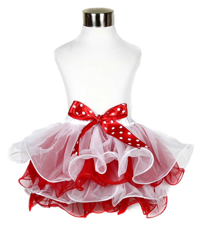 Christmas Dress White Red 4 Layer Petal Skirt Tree Tutu Girl Clothing Nb-8y