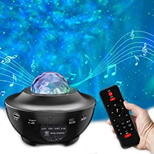 Star Projector Night Light Projector - Galaxy Light Projector for Bedroom Starlight Projector with LED Nebula Ocean Wave Bluetooth Speaker Timer Setting Room Decor for Adults Kids Christmas Gift