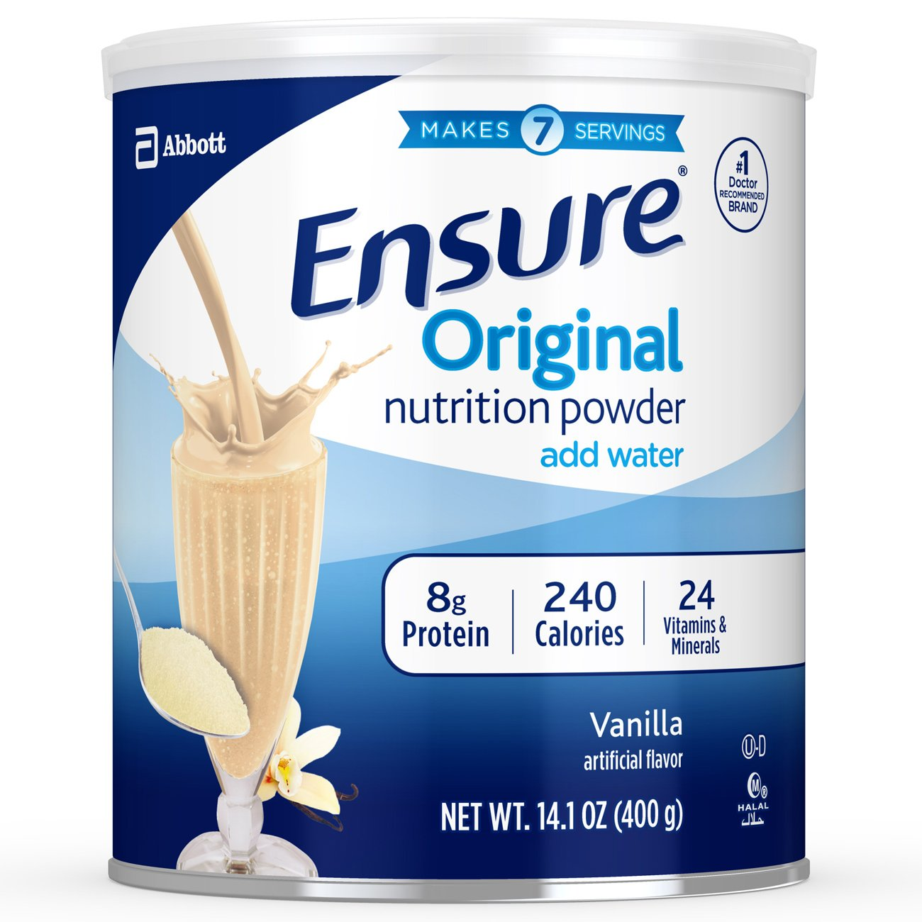 Ensure Original Nutrition Powder with 8 grams of protein, Meal Replacement, Vanilla, 6 count by Ensure