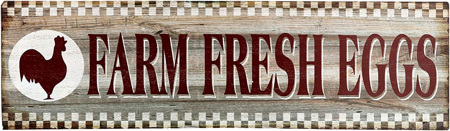 Barnyard Designs Farm Fresh Eggs Retro Vintage Tin Bar Sign Country Home Decor 15.75