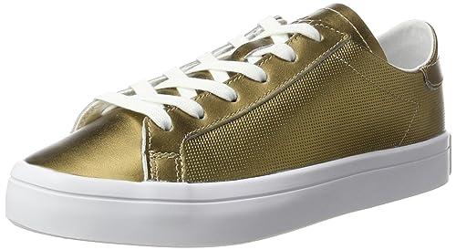 designer fashion daa8f 91ce5 adidas Womens Courtvantage Low-Top Sneakers, Gold Copper MetallicFootwear  White, 3.5