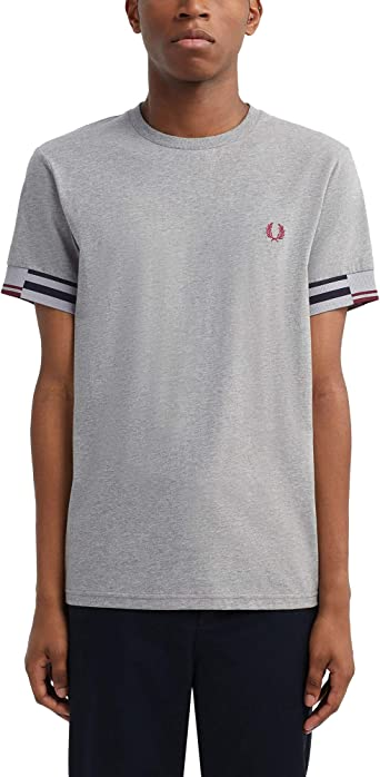 Fred Perry Abstract Cuff T Shirt, Camiseta