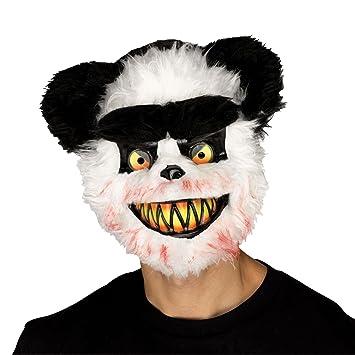Halloween Adult zombie Killer Critters oso panda máscara y capa disfraz fiesta