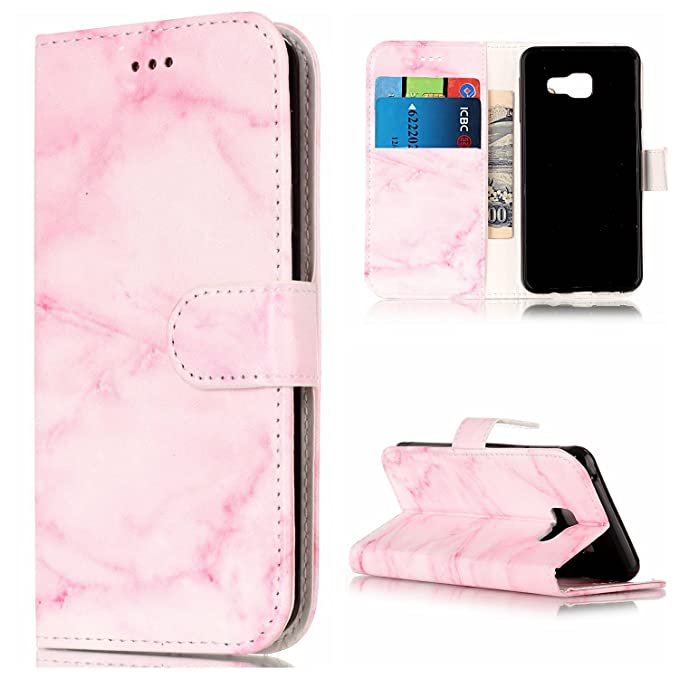 Huawei P8 Lite 2017 Wallet Case, Wind Chimes Pattern Hand Strap PU Leather Wallet Flip Folio Protective Case Cover with Card Slots Cash Pocket Kickstand for Huawei P8 Lite 2017 red