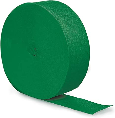 Creative Converting Touch of Color Crepe Paper Streamer Roll Emerald Green 81-Feet