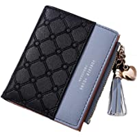 SYGA Wallet for Women Small Compact Wallet Bifold, Credit Card Holder Mini Bifold Pocket Wallet(Black)