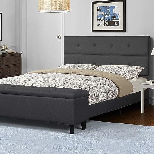 Amolife Queen Platform Bed Frame