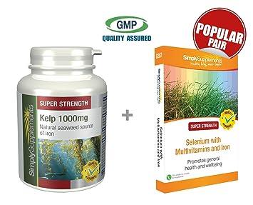 Amazon.com: SimplySupplements Kelp 1000 mg 120 Cápsulas + ...