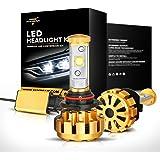 Auxbeam LED headlights F-16 Series 9006 / HB4 LED Headlight bulbs with 2 Pcs of Headlight Bulbs 60W 6000lm CREE LED Chips