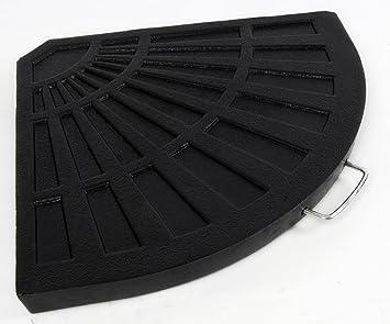 12 kg de pared en voladizo para paraguas sombrilla de jardín Base Peso en negro con asa resina: Amazon.es: Jardín