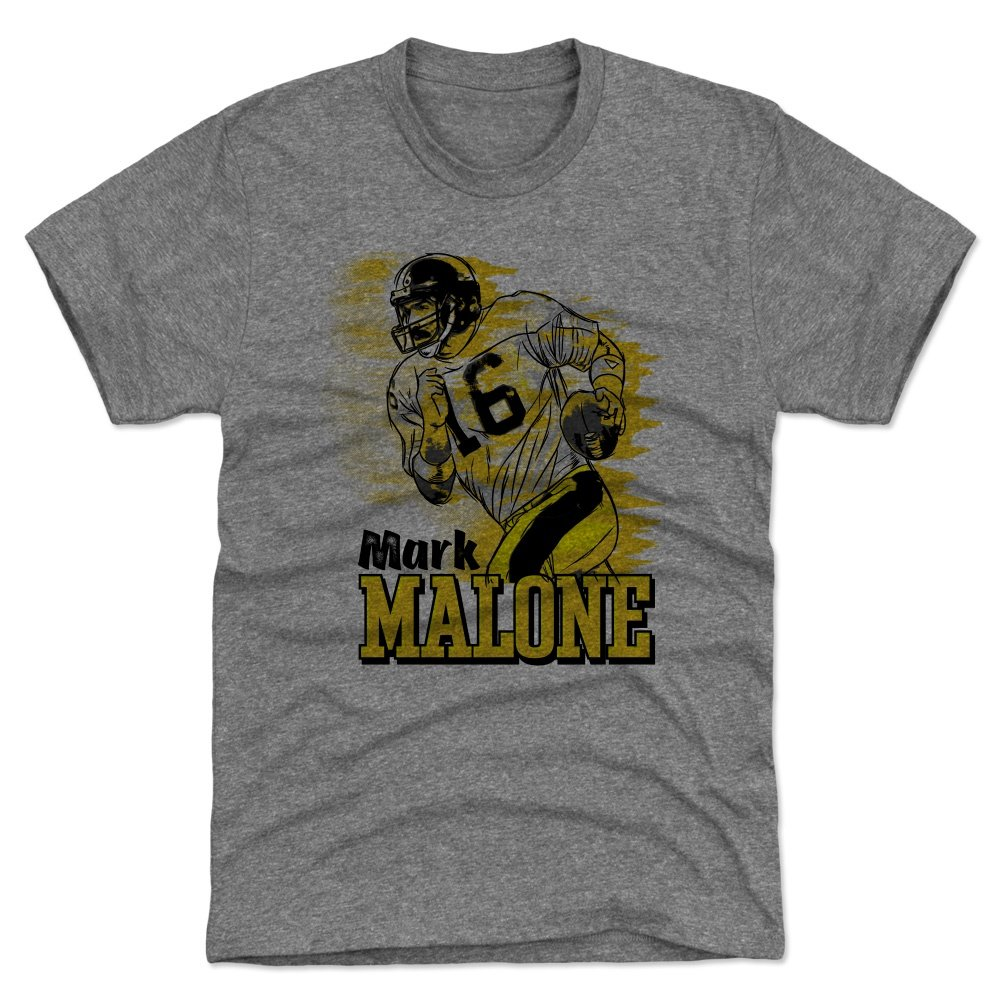 Amazon.com   500 LEVEL Mark Malone Shirt - Vintage Pittsburgh Football  Men s Apparel - Mark Malone Serif   Sports   Outdoors 3727006a1