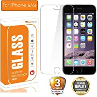 OpenTech® Tempered Glass Screen Protector for Apple iPhone 6 / 6s with Installation kit (2.5 D and Full Transparent)