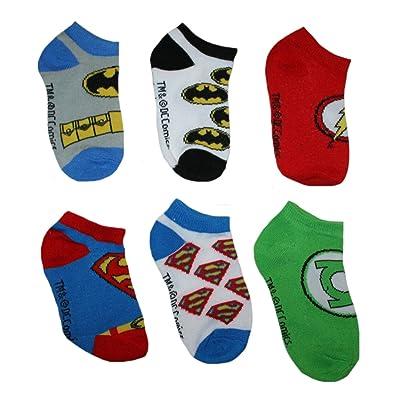 Justice League Toddler Little Boys' Low Cut Socks - 6 Pair 2T-4T
