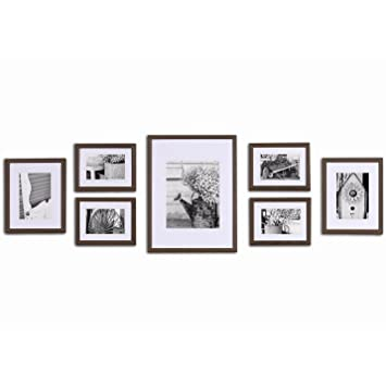 Amazon.com - Pinnacle Frames & Accents Gallery Perfect 7 Piece Wall ...