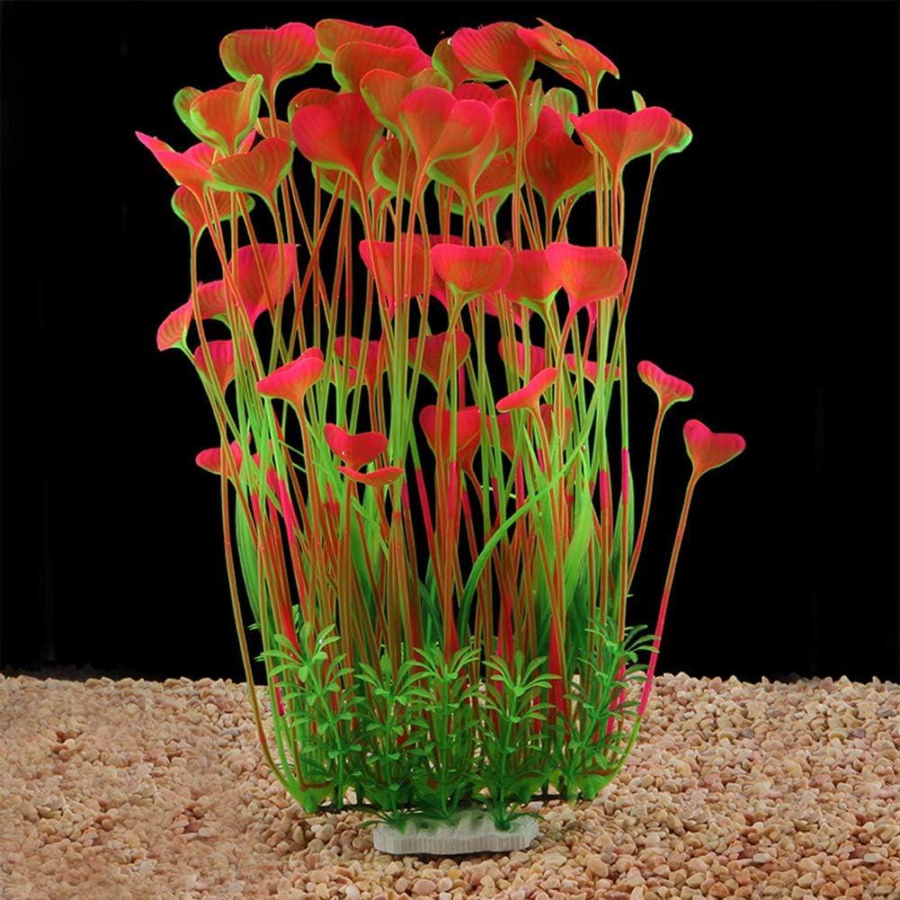 QUMY Large Aquarium Plants Artificial Plastic Fish Tank Plants Decoration Ornament for All Fish