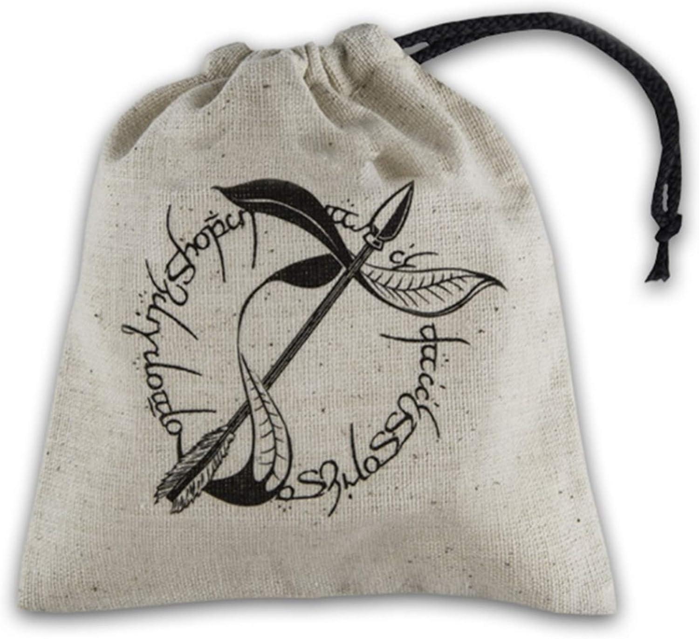 Q-Workshop Elvish Beige & Black Basic Dice Bag