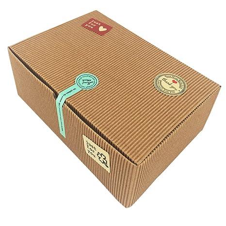 Cajas de regalo, juego de 10cajas de panadería para galletas,