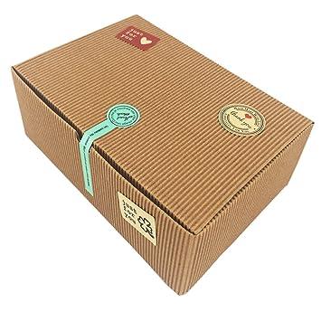 Cajas de regalo, juego de 10 cajas de panadería para galletas, magdalenas, Chocolate, 37 pegatinas decorativas incluidas: Amazon.es: Juguetes y juegos