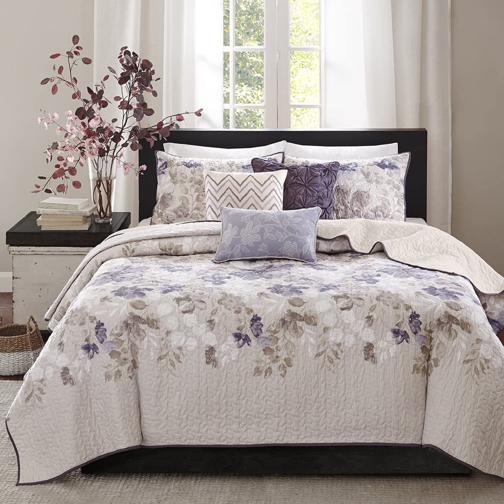 Madison Park Luna Coverlet Set Full/Queen Taupe