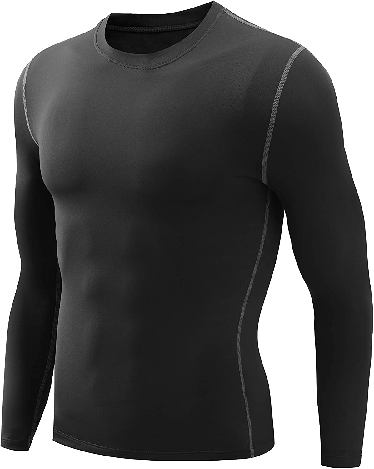Nooz Men's Fleece Lined Cool Dry Compression Baselayer Long Sleeve Shirts