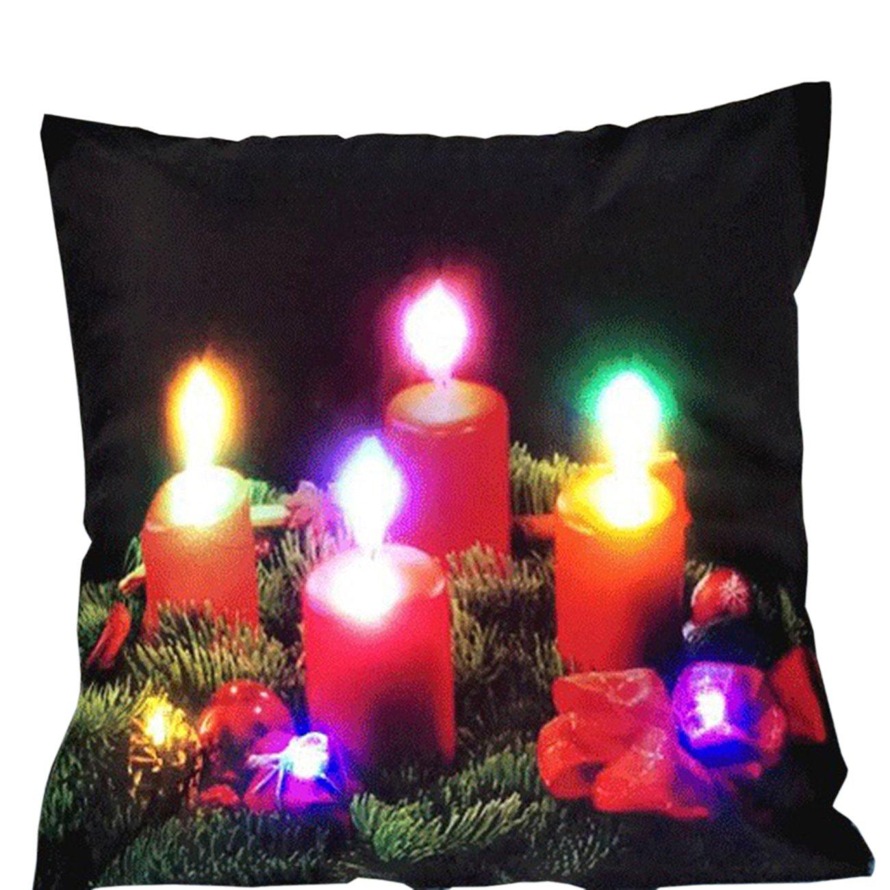 Amazon.com: Thee Luz LED Navidad cojines decoración del ...