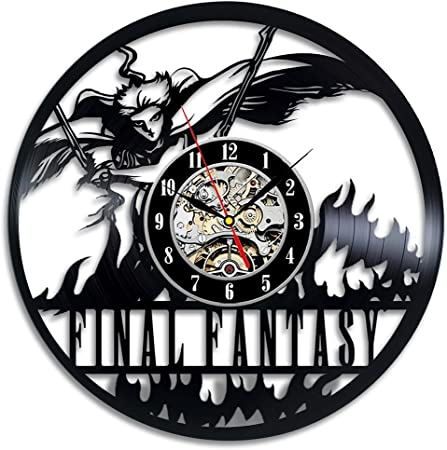 YXT Orologio da Parete Final Fantasy Vinyl Wall Clock Home