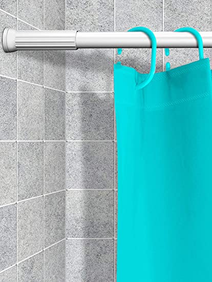 StoryHome Rustproof Adjustable Extendable Stable Spring Tension Shower Curtain Rod 70