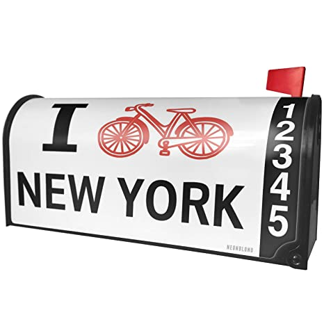 Amazoncom Neonblond I Love Cycling State New York Magnetic Mailbox