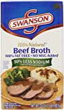Swanson Broth, 50% Less Sodium, Beef, 32 Ounce