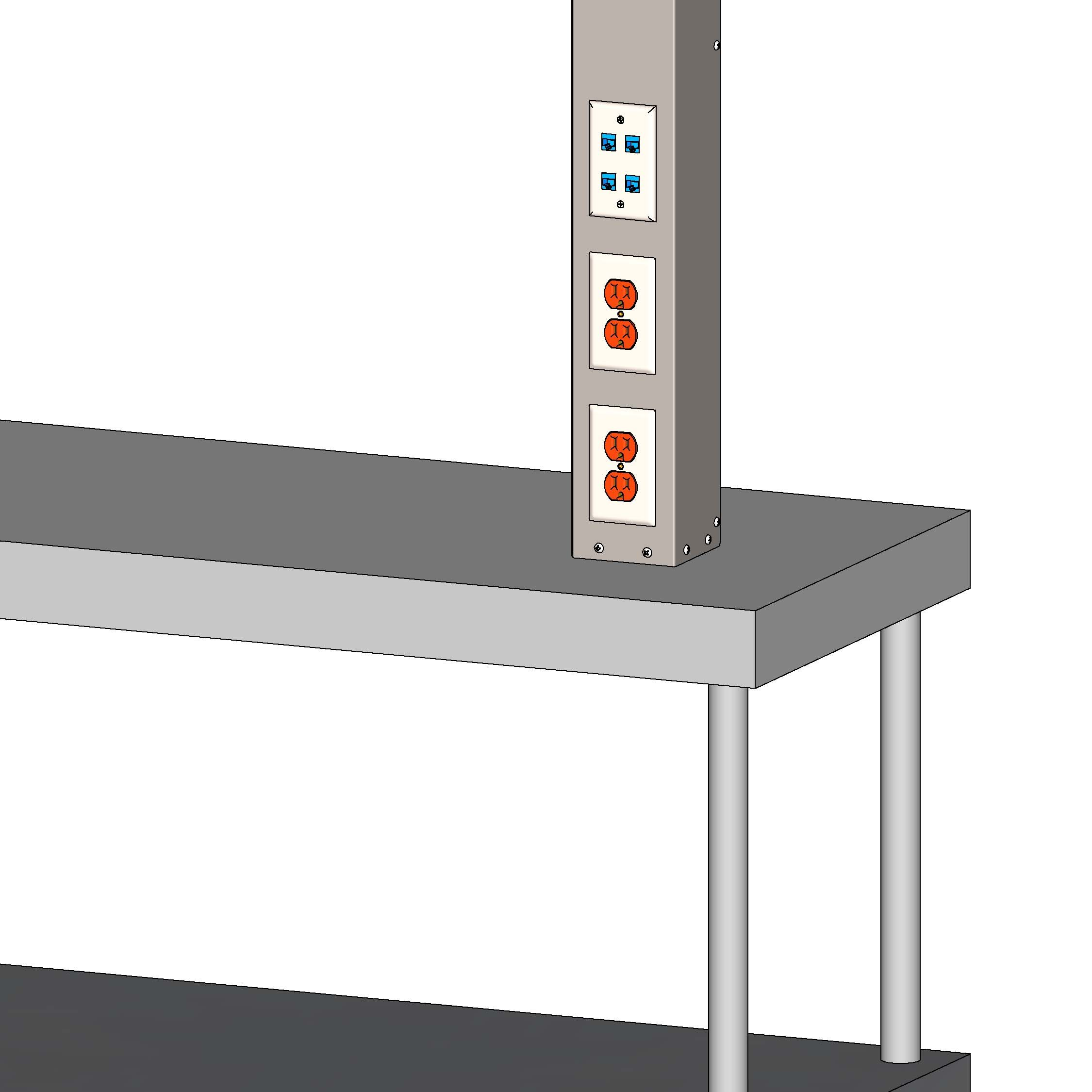 Kitchen Power and Data Pole PQS PN 80092