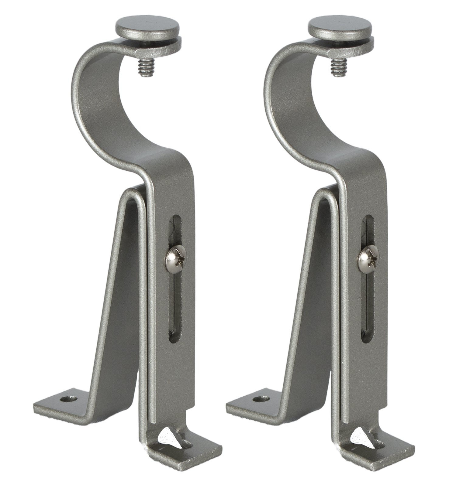 Urbanest Adjustable Curtain Rod Bracket, up to 1 1/8-inch Diameter Rods, 2 pieces, Pewter