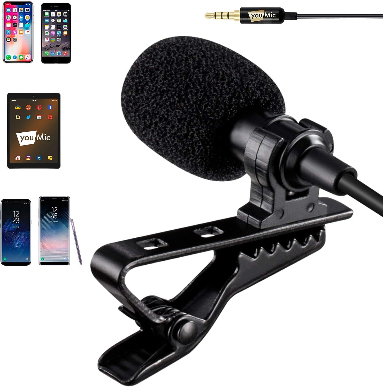 US Clip-on Lapel External Lavalier Microphone for Cel Phone Mobile Smartphones