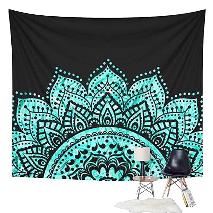 Staresen real impreso toalla de playa Cover Up redondo Circular de tamaño grande toalla de baño sol bloque chal Yoga impresa esmalte (Amarillo): Amazon.es: ...