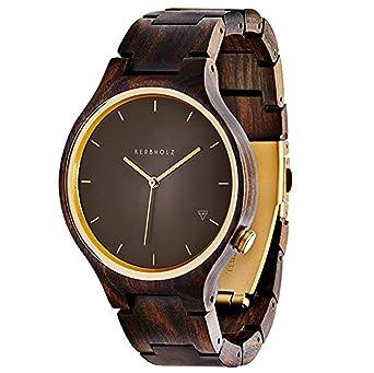 076df9e631418d Kerbholz Armbanduhr Lamprecht Sandalwood Antique Brass  Amazon.de  Uhren
