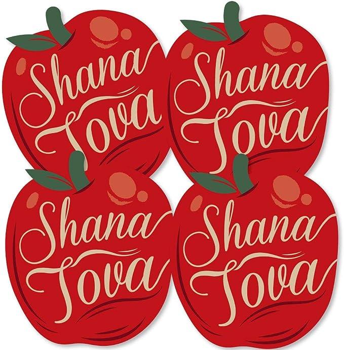 Rosh Hashanah Doterrific Bundle Banner and Photo Booth Decorations Jewish New Year Supplies Kit