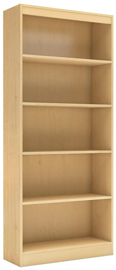 Beau South Shore 5 Shelf Storage Bookcase, Natural Maple
