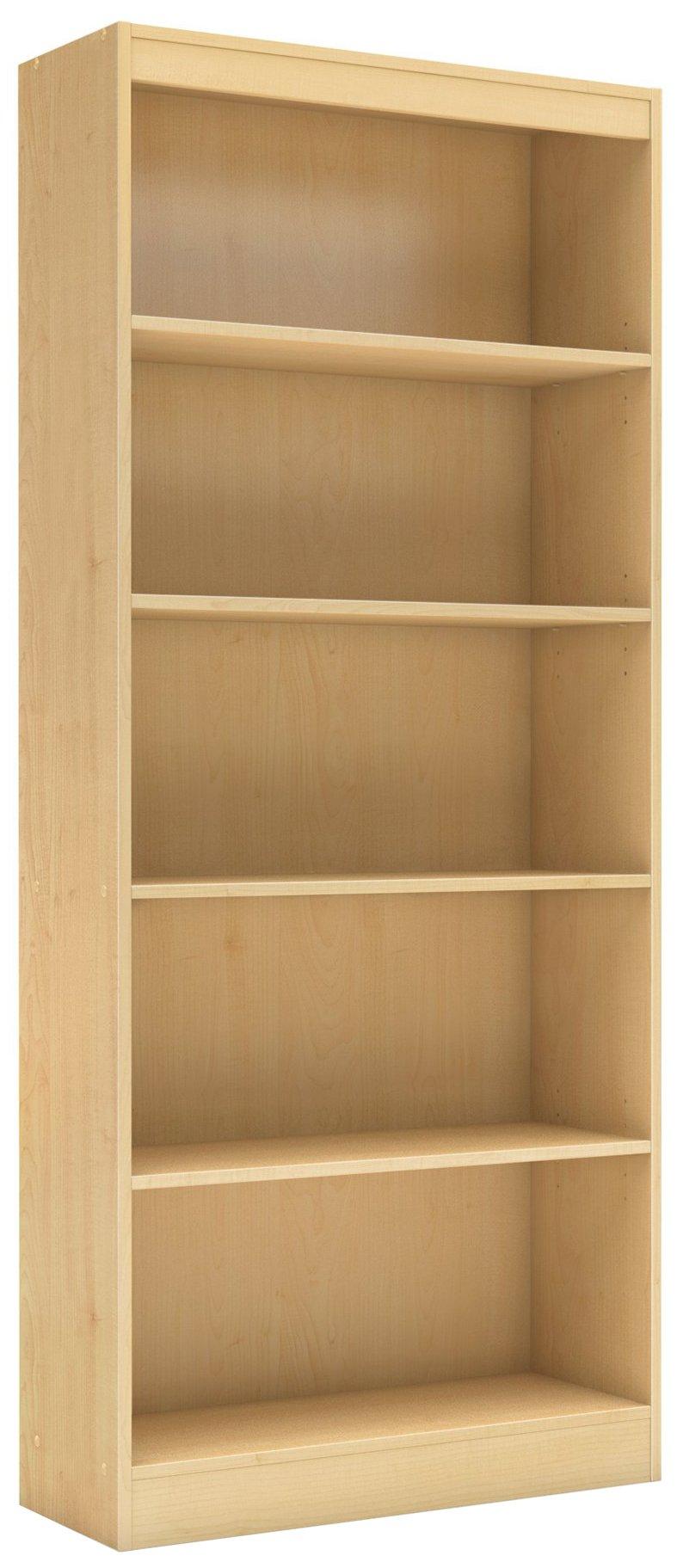 South Shore Axess Collection Bookcase, Natural Maple, 5-Shelf