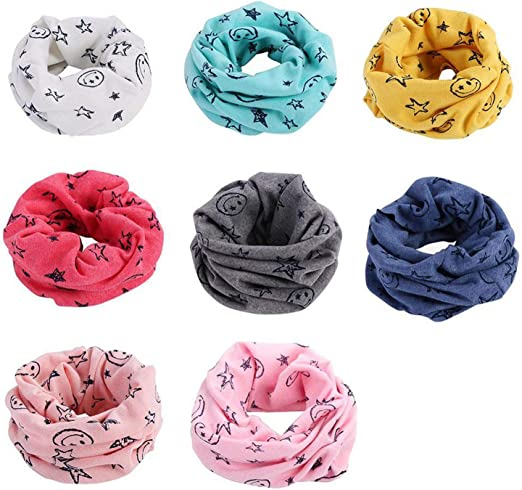 Cartoon Autumn Winter Boys Girls Collar Baby Scarf Cotton SOFT Warm Neck Scarves