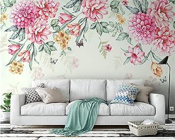 LoaiZh Plantas Modernas Flores Mariposa Pastoral 3D Papel Pintado Mural Pegatinas De Pared 300cmX200cm: Amazon.es: Bricolaje y herramientas
